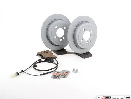 ES#2598710 - 34216774987KT18 - Rear Brake Service Kit - Featuring Zimmerman rotors and Akebono pads - Assembled By ECS - MINI