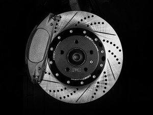 ES#2730470 - 8R0615107EKT -  Front Big Brake Kit - Stage 2 - 2-Piece Cross Drilled & Slotted Rotors (345x30) - Upgrade your brake system to the 4-piston Brembo Q5 calipers - ECS - Audi