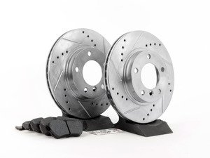 ES#2864024 - HK4688.136Z - Front Sector 27 Performance Rotor & Pad Kit - Featuring Hawk Sector 27 cross drilled and slotted rotors with Performance Ceramic brake pads - Hawk - BMW