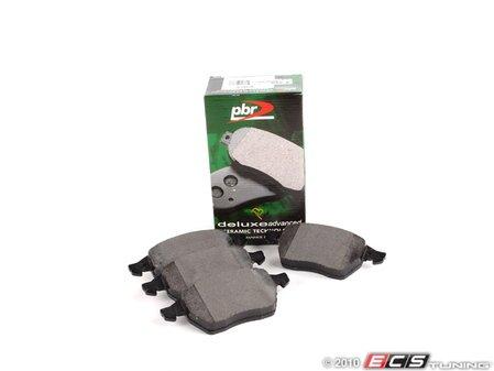 ES#4390 - D807R -  Front Deluxe Brake Pad Set  - Ceramic composite developed to meet low dust & noise requirements - PBR - Audi Volkswagen