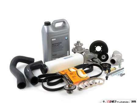 ES#2836989 - 17111737760kt1KT - Cooling System Refresh Kit - Level 2 - A complete kit to help solve your BMWs cooling problems - featuring a GEBA water pump with a metal impeller - Assembled By ECS - BMW
