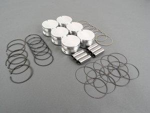 ES#3569774 - 314327 - JE Forged Piston Set - 83mm bore (oversized), 9.0:1 compression ratio, 86.4mm stroke - Includes rings, wrist-pins, & circlips - JE Piston - Audi