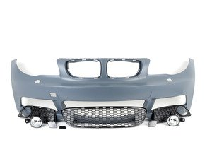 ES#2918123 - 012230ecs07a - M-Tech Style Front Bumper - with fog lights - Aggressive styling. OEM-like fitment. It's a win-win. - ECS - BMW