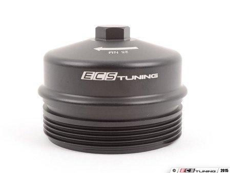 ES#2762321 - 003296ECS01 - Billet Aluminum Oil Filter Cap - Aluminum upgrade for OE plastic cap. No more damaged threads or rounded heads - plus a crisp design worth showing off. - ECS - BMW