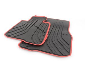 ES#2706630 - 51472348156 - Sport Line Rubber Floor Mat Set - Front - Protects your floor and carpet from moisture - Genuine BMW - BMW