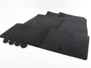 ES#2684046 - 51479811685 - MINI JCW Velours - Black / Red - Floor Mat Carpet Set (Front & Rear) - Priced As Set - Replace or upgrade to factory MINI mats - Genuine MINI - MINI