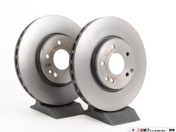 ES#2598526 - 2104212512KT2 - Front Brake Rotors - Pair - Does not include brake rotor securing screws - Brembo - Mercedes Benz