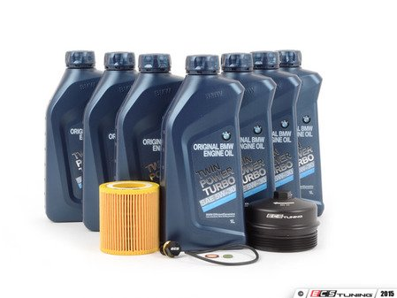 ES#2918838 - 11427566327KT5 - Genuine BMW Oil Change Kit / Inspection I - Includes seven quarts of BMW synthetic engine oil, Mann oil filter and ECS magnetic drain plug for superior engine protection - plus ECS Billet Aluminum Oil Filter Cap to prevent damaged threads or rounded heads! - Assembled By ECS - BMW