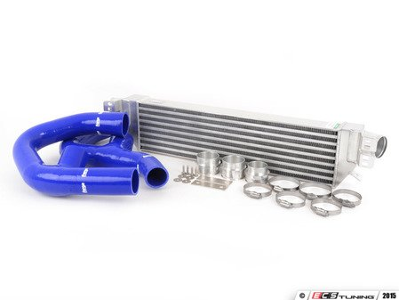 "ES#1832087 - FMINTMKVB - Front Mount Intercooler Kit - Blue Hoses - Forge innovative ""TWINtercooler"" design - Forge - Volkswagen"