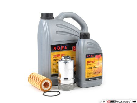 ES#2951302 - 21063-538-033KT - Oil Service Kit - With Polished Billet Aluminum Oil Filter Housing  - Includes HighTec Synt RS Engine Oil (5W-40), Genuine Oil Filter and an ECS billet filter housing - Assembled By ECS - Audi