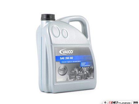 ES#2608988 - V60-0026 - Synthetic Engine Oil (5w-40) - 5 Liter - Meets Volkswagen & Audi 502.00 / 505.00 & BMW LL-98 specifications - Vaico - Audi Volkswagen Mercedes Benz