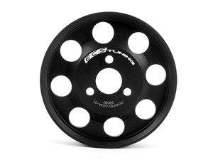 ES#3085 - 001551ECS03A-01 -  Lightweight Power Steering Pulley - Black - NOT an under drive pulley, reduces rotational mass of stock pulley system. - ECS - Audi Volkswagen