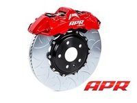 ES#2951855 - ABB0005 - APR By Brembo GT Front Big Brake Kit - 2 Piece Type 3 Slotted Rotors (380x32) - Featuring Red 6 piston calipers, stainless brake lines and Brembo Sport brake pads - APR - Audi