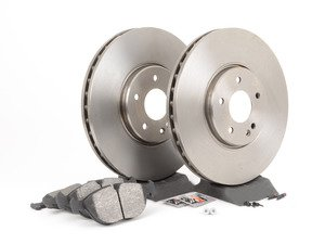 ES#2771975 - 0034202120KT10 - Front Brake Service Kit - Featuring Pilenga rotors and Bosch pads - Assembled By ECS - Mercedes Benz