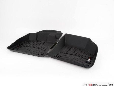 ES#2837704 - 444961 - Front FloorLiner DigitalFit - Black - Laser measured for perfect fitment and ultimate protection against moisture and debris - WeatherTech - Audi Volkswagen