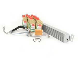 ES#2777500 - VFAOC-E9XM2KT - VF Engineering Oil Cooler With Oil Lines - Avoid heat soak and keep your M3 running cool with this upgraded oil cooler. For vehicles with a production date up to 04/2008. - Assembled By ECS - BMW