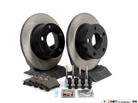 ES#1899342 - 8e0698020 - Rear Brake Service Kit - Includes OP Parts Rotors & Vaico pads - Assembled By ECS - Volkswagen