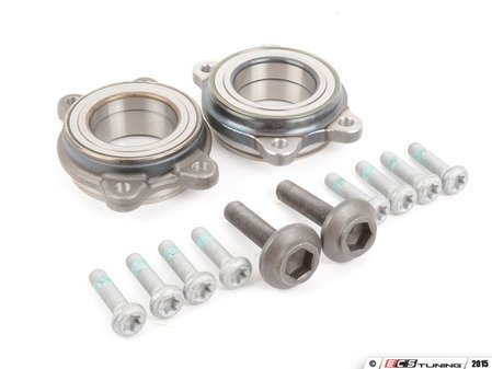 ES#2918988 - 4H0498625AKT - Wheel Bearing Kit - Pair - Includes both bearings with axle & securing bolts - FAG - Audi
