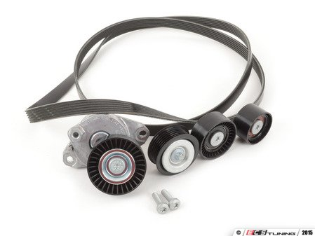 ES#2792694 - 0019938396KT3 - Accessory Belt Kit - Level 2 - Includes accessory belt, belt tensioner assembly and idler pulleys - Genuine Mercedes Benz - Mercedes Benz
