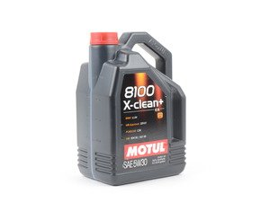 ES#2952152 - 3374650234 - 8100 X-Clean+ Engine Oil (5w-30) - 5 Liter - 100% synthetic engine oil specially designed around the demands of direct injection engines - Motul - Audi Volkswagen