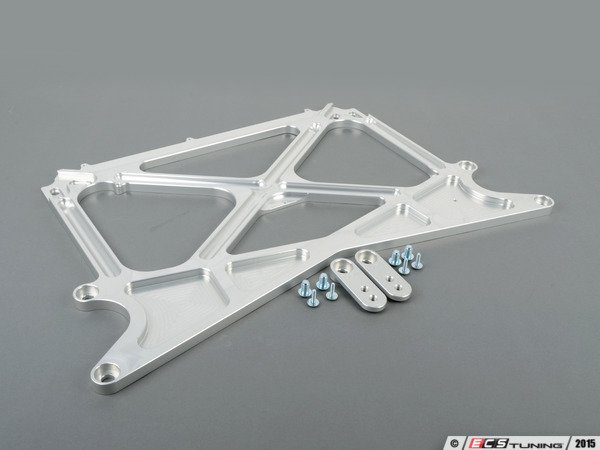 ES#2951399 - 034-603-0008 - X-Brace Billet Aluminum Chassis Reinforcement - Increase torsional rigidity for improved steering feel and handling performance - 034Motorsport - Audi