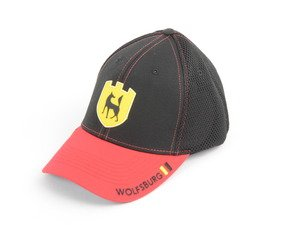 ES#2913811 - DRG014035 - Wolfsburg Cap  - Show your Wolfsburg pride with our trendy cotton, flexfit Wolfsburg Cap - Genuine Volkswagen Audi - Volkswagen