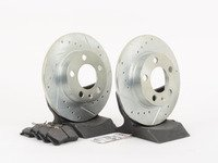 ES#2864064 - HK4751.364Z - Rear Sector 27 Performance Rotor  Pad Kit (232x9) - Featuring Hawk Sector 27 cross drilled and slotted rotors with Performance Ceramic brake pads - Hawk - Volkswagen