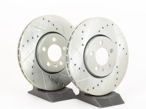 ES#2919050 - HR4770 - Front Sector 27 Performance Rotors - pair (288x25) - Featuring Hawk Sector 27 cross drilled and slotted rotors - Hawk - Volkswagen
