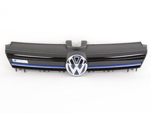 "ES#2796735 - 5GE853651CYR - e-Golf Grille - With Blue Strip - Gloss black bar with ""Ultramarine"" strip and ""VW"" and ""e-Golf"" badges - Genuine Volkswagen Audi - Volkswagen"