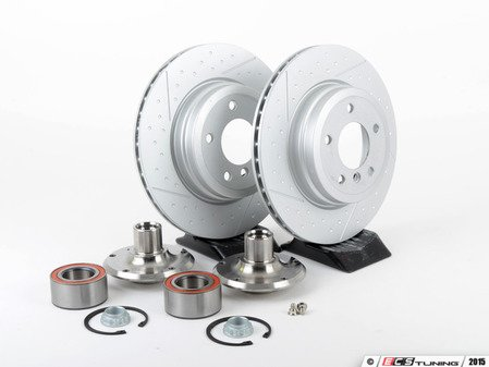 ES#2762929 - 33416760058KT - Rear Hub Conversion Kit  - Reduces rear hub offset by 10mm to increases wheel choices - Assembled By ECS - BMW