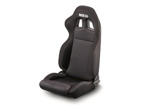 ES#2952408 - 00961NRNR - R100 Sport Seat - Black/Black - Priced Each - Ergonomic designs help cradle and protect the driver from even the most demanding lateral forces. - Sparco - Audi MINI