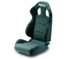 ES#2953795 - 00959CRGMGRNR - Chrono Sport Seat - Medium - Gray/Black - Priced Each - Ergonomic designs help cradle and protect the driver from even the most demanding lateral forces. - Sparco - Audi MINI