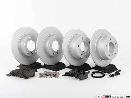 ES#2837277 - 34116757751KT6 - Front & Rear Brake Service Kit - Featuring Meyle Platinum rotors and Brembo pads - Assembled By ECS - BMW