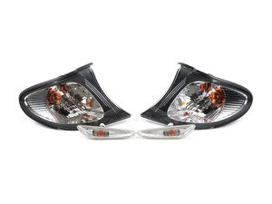 ES#173333 - 63130141567 -  White Turn Signal & Marker Light Kit - Keep the blacked out look of your headlight, while removing the amber from the indicator lamps - Genuine European BMW - BMW