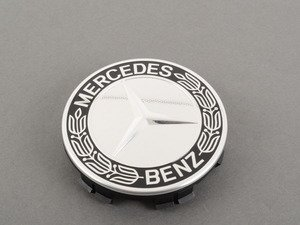 ES#2745453 - 17140001259040 - Center Cap - Priced Each - Clip-In Center Cap With Classic Star & Laurel Design In Black - Genuine Mercedes Benz - Mercedes Benz