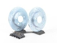 ES#2864101 - HK4786.364Z - Rear Sector 27 Performance Rotor & Pad Kit - Featuring Hawk Sector 27 cross drilled and slotted rotors with Performance Ceramic brake pads - Hawk - Audi