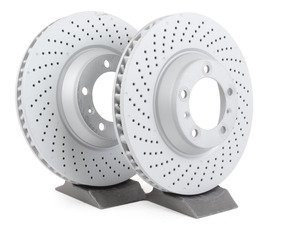"""ES#2598732 - 99735140501KT3 - Z-Coated Front Brake Rotors - Pair 13.77"""" (350mm) - Front axle fitment - Both left and right - Zimmermann - Porsche"""