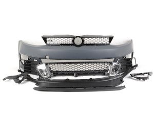 ES#2952265 - BP-VWJ6-GLI-B - Front Bumper Conversion - GLI With Black Trim - Includes honeycomb grilles, fog lights, and front lip - ECS - Volkswagen