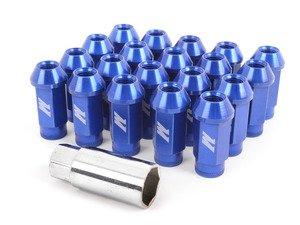 ES#2951678 - MMLG15LOCKBL - Mishimoto Aluminum Locking Lug Nuts - Blue - M12x1.5, for ideal fit, and a great look - Mishimoto - BMW MINI