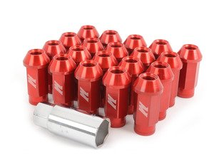 ES#2951680 - MMLG15LOCKRD - Mishimoto Aluminum Locking Lug Nuts - red - M12x1.5, for ideal fit, and a great look - Mishimoto - BMW MINI