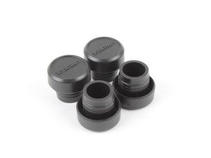 ES#2931497 - 8007026 - Round Bar End Caps - Set Of Four - Replacement end caps for round bar roof rack systems - Yakima - Audi BMW Volkswagen Mercedes Benz MINI Porsche