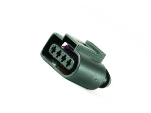 ES#7405 - 1J0973724 - 4-Pin Electrical Connector - Priced Each - Used in various locations on many vehicles - Genuine Volkswagen Audi - Audi Volkswagen