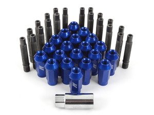 ES#2959742 - 001467ecsb3KT - Wheel Stud Conversion Kit - full set - ECS wheel studs with blue Mishimoto Aluminum lug nuts! - Assembled By ECS - BMW
