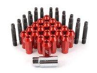 ES#2959709 - 001467ecsrdKT - Wheel Stud Conversion Kit - Full Set - ECS wheel studs with red Mishimoto Aluminum lug nuts! - Assembled By ECS - BMW