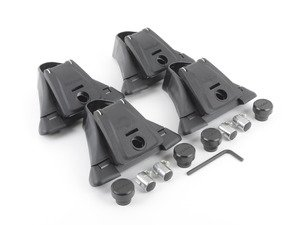 """ES#2931569 - 8000723KT - Q Towers 4 Pack System With 48"""" Bars - Now any car can sport a Yakima roof rack. - Yakima - Volkswagen"""