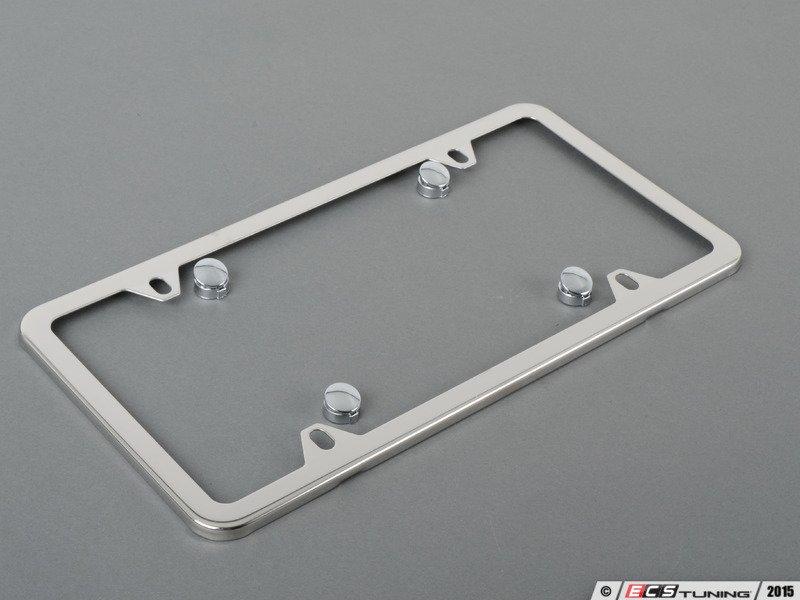 Genuine mercedes benz q6880005 slimline license plate for Mercedes benz stainless steel license plate frame