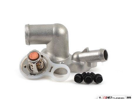ES#2960132 - 11537596787kt1KT - Thermostat Replacement Kit - Metal Thermostat housing and thermostat kit with bolts : Cooper S/JCW - Assembled By ECS - MINI