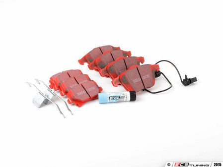 ES#2587670 - DP31495CKT - Front & Rear RedStuff Performance Brake Pad Kit - Includes front & rear pads, anti-rattle springs, and brake compound - EBC - Audi