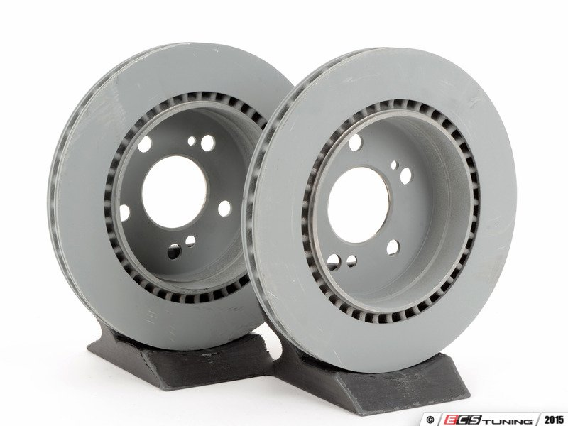Genuine mercedes benz 124423081264kt rear brake rotors for Mercedes benz rotors and pads