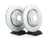 ES#2855682 - 1k0615601nnKT - Rear Brake Rotors - Pair (310x22) - Restore the stopping power in your vehicle with these Geomet coated rotors. - Optimal - Audi Volkswagen